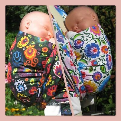 New Baby Wrap Sling 4.5M Size 6 Woven 100%cotton Wrap Carrier  Folk Flowers