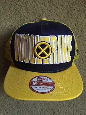 Wolverine X-Men Yellow Marvel Comics New Era 9FIFTY Snapback Trucker Hat Cap  NEW 951a29cd869