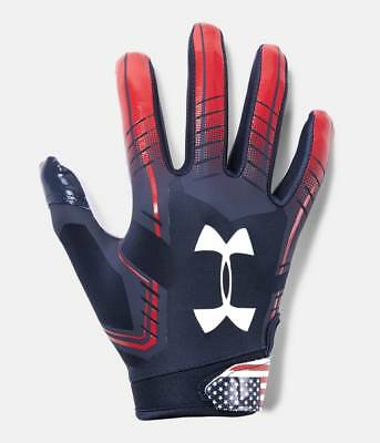 Under Armour Boy's F6 LE USA Flag Limited Edition Football Receiver Gloves