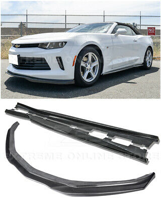 EOS T6 Style CARBON FIBER Front Splitter W/ Side Skirts For 16-Up Camaro RS | LT