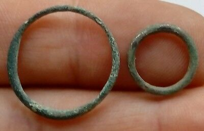 Lot Of 2 Celtic 500 Bc Proto Coin Wheel Money