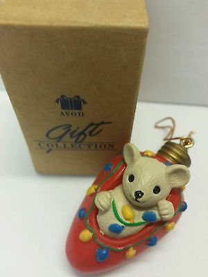 Cutie Light Bulb Mouse Avon Gift Collection Christmas Ornament