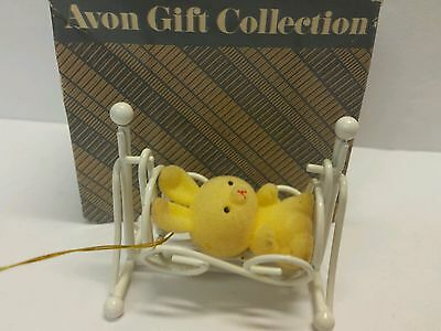 Bunny In Cradle The Spring Bunny Collection Avon Gift Rabbit Ornament