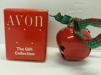 Pretty Sleigh Bell Red Avon The Gift Collection Christmas Ornament