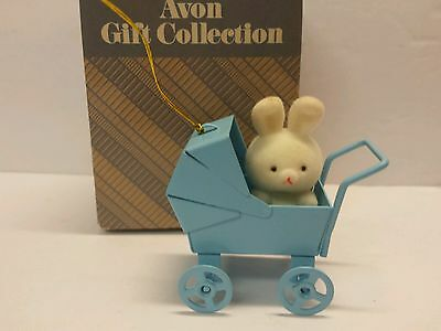 Bunnies In Baby Carriage The Spring Bunny Collection Avon Gift Rabbit Ornament