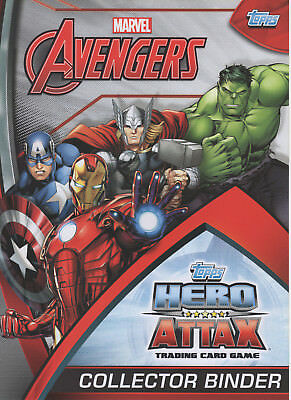 Topps Marvel Avengers Hero Attax 2015 Complete 208 Card Set & Album