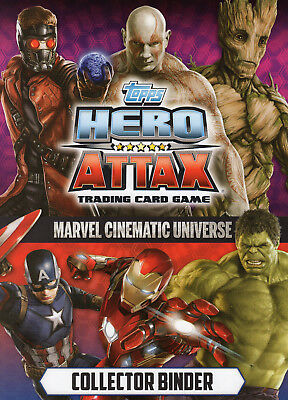 Topps Hero Attax Civil War 2016 Complete 208 Card Set+1 Flix Pix Ltd + Binder