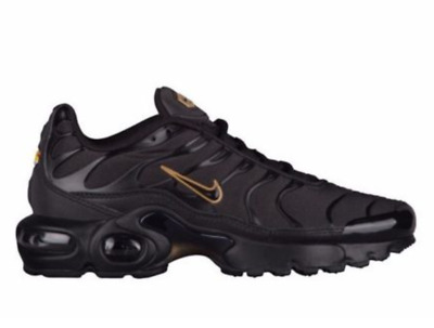 premium selection c9a55 fe454 Nike Air Max Plus GS Tn Youth UK 5.5 EU 38.5 Black   Gold Sneakers Trainers