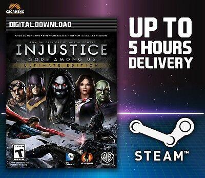 Injustice: Gods Among Us Ultimate Edition [PC] (2013) STEAM DOWNLOAD KEY 🎮🔑
