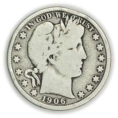 1906-D Barber Half Dollar, Large, Early Type Silver Coin [3649.17]