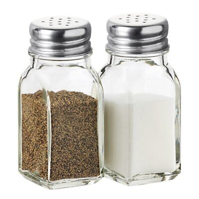 Glass Salt and Pepper Shakers Jar Set (2 Pcs)