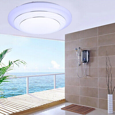 LED Ceiling Light 24W Round Square Dimmable Mount Fixture Lamp Kitchen Bedroom