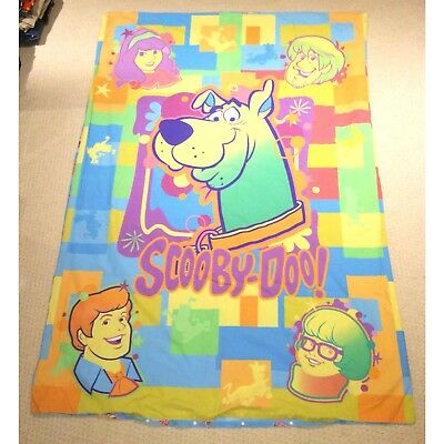 Vintage Scooby Doo Single Duvet Cover Cartoon Network Disney Bedding 90s