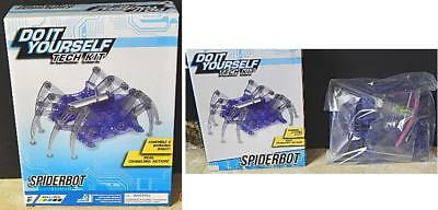 Do it yourself tech kit mini solar powered robot makes 3 types dino do it yourself tech kit spiderbot w real crawling action new solutioingenieria Gallery
