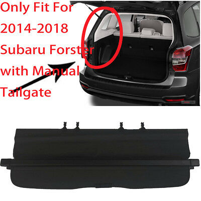 Tonneau Rear Trunk Cargo Cover For 2014-2018 SubAru Forester (with manual door)