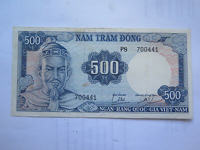 VIET-NAM 500 DONG BANK NOTE in EXCELLENT COLLECTABLE CONDITION c1970s