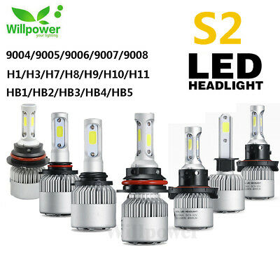 2X H1 H3 HB2 9003 H4 H7 H8 H9 H11 9005 9006 72W LED Lamp Headlight Kit Car Bulbs