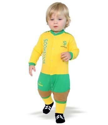 Socceroos Baby and Infant Jumpsuit Onesi by Footysuit