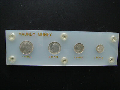 1895 GREAT BRITAIN Silver Maundy Money Set  in UNC Condition.