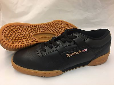 85138fb3bfa9b REEBOK WORKOUT LOW Mens Style 67107 Black gum Size 14 Multiple Sizes ...