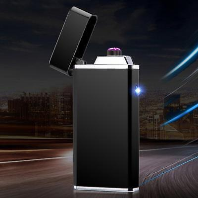 Electric Usb Rechargeable Cigarette Lighter Windproof Dual Plasma Flameless Arc