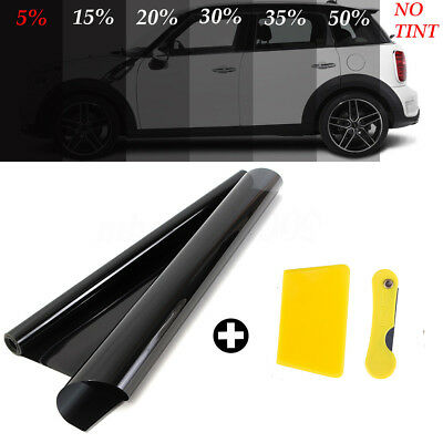 50cmx6m 5% VLT Black Pro Car Auto Home Glass Window TINT TINTING Film Roll New