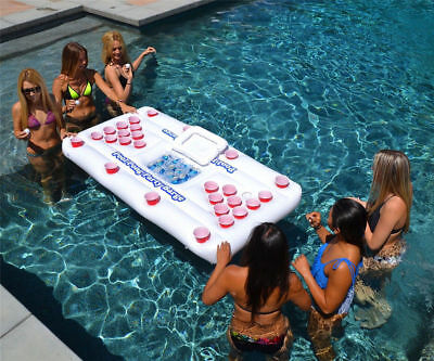 Inflatable Beer Pong Table Party Barge Pools Drink Cooler Floating Lounge 180CM