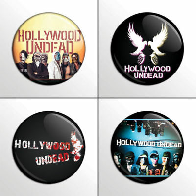 Hollywood Undead - 4 plates, pin, badge, button