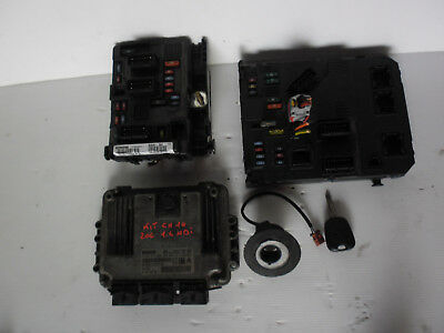 Kit Chiave Contatto Centralina Peugeot 206 Hdi 1.4 Rc Restyling 2003