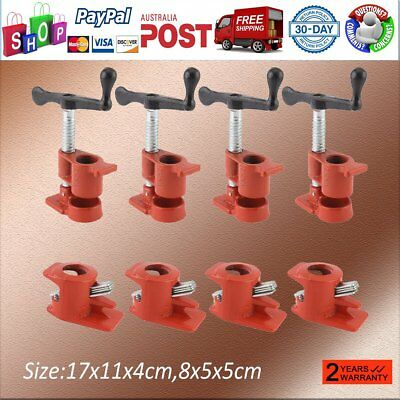 """3/4"""" GLUING PIPE CLAMP 4 SETS WOODWORKING VICE HAND TOOLS For 50mm Galv Pipe NSW"""