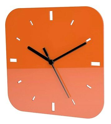 Contemporary Square Wall Clock Acrylic High Gloss Finish - Multiple Colours