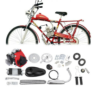 "49cc 4 stroke Motor Engine Set Motorised 26""/28'' Bicycle Motorized Bike Kit"