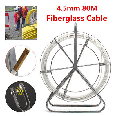 4.5mm*80m Fiberglass Wire Cable Rod Duct Puller Fish Electric Tape Running Lead