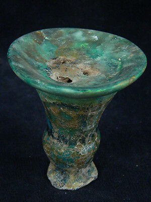 "Ancient Islamic Teracotta Glzed Stand C.1300 Ad  """"p207"""""