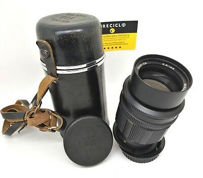Lens TANP-11A 135MM 2.8 - Zenit m42 mount lens with Canon Adapter + Hard Case