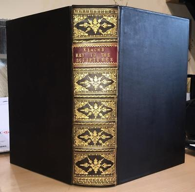 1779 Benjamin Keach 'Key To The Scriptures' SUPERB BINDING.   Bible/Theology