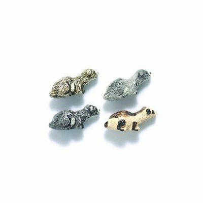Shipwreck Peruvian Hand Crafted Ceramic Ferret Beads, 7 by 18mm, Assorted, 10