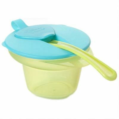 Tommee Tippee Cool & Mash Sevrage Bowl 4 m + Turquoise / Vert 1 2 3 6 12 Packs