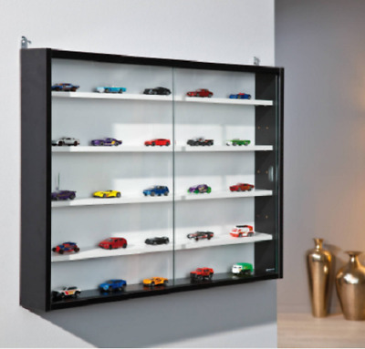 Wall Mounted Display Cabinet Large Model Car Trophy Ornament Figure Glass Unit