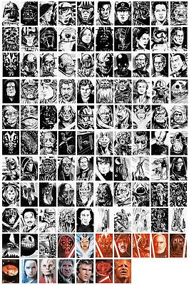 Original Trading Card Art Commission By Comic Pro Dave Golding Marvel Dc Comics