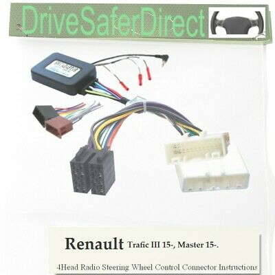 SWC-8418-08J Stalk Adaptor, ISO-JOIN for unbranded Radio/Renault Trafic III 15-
