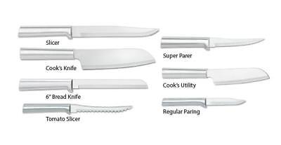 Rada Top 7 Pc Deluxe Chef Knives Usa Made Kitchen Culinary