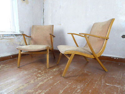 2 Mid 20th Century Sessel Armlehnsessel 50er 60er Retro easy chair 50s Vintage