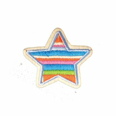 Blue Stripe Star (Iron On) Embroidery Applique Patch Sew Iron Badge