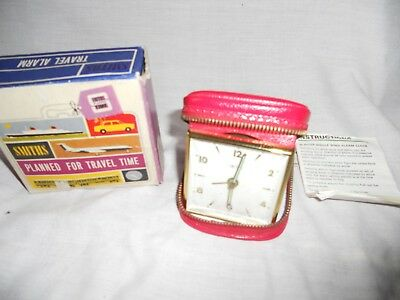Vintage Mid 20Th Century Smiths 30 Hour Single Wind 7 Jewels Travel Alarm Clock