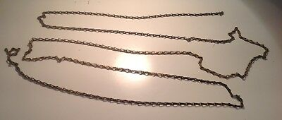 Old Brass Lighting Chain Hanger Loop Chandelier Light Vintage 3m Length Approx