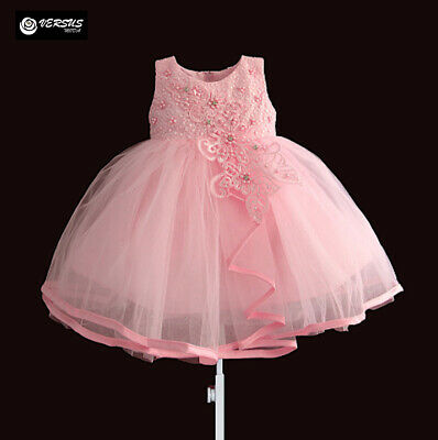 Vestito Bambina Abito Cerimonia Tulle Ricamato Fiori Girl Party Dress  DGZF034 6b5b6445b65