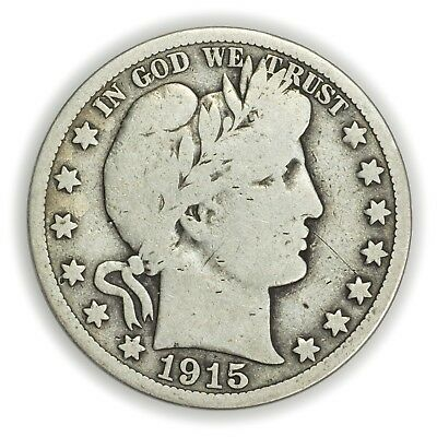 1915-S Barber Half Dollar, Large, Early Type Silver Coin [3653.04]