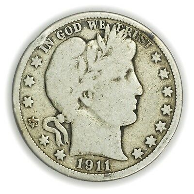 1911 Barber Half Dollar, Large, Early Type Silver Coin [3653.11]