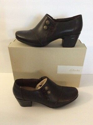 7bfa93d84d CLARKS WOMENS EMSLIE Warren Bootie Shoes Brown Size 8.5 New -  52.50 ...